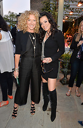 PICTURE SHOWS:-Left to right, KELLY HOPPEN and NANCY DELL'OLIO.<br /> Tuesday 14th April 2015 saw a host of London influencers and VIP faces gather together to celebrate the launch of The Ivy Chelsea Garden. Live entertainment was provided by jazz-trio The Blind Tigers, whilst guests enjoyed Moët & Chandon Champagne, alongside a series of delicious canapés created by the restaurant's Executive Chef, Sean Burbidge.<br /> The evening showcased The Ivy Chelsea Garden to two hundred VIPs and Chelsea<br /> residents, inviting guests to preview the restaurant and gardens which marry<br /> approachable sophistication and familiar luxury with an underlying feeling of glamour and theatre. The Ivy Chelsea Garden's interiors have been designed by Martin Brudnizki Design Studio, and cleverly combine vintage with luxury, resulting in a space that is both alluring and down-to-earth.