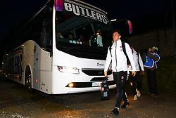 Sam Maunder arrives from the team bus - Mandatory by-line: Ken Sutton/JMP - 01/02/2019 - RUGBY - Irish Independent Park - Cork, Cork - Ireland U20 v England U20 -