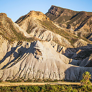 A landscape of the Tabernas Desert in Almeria province, Andalucia, Spain.<br /> <br /> + ART PRINTS +<br /> To order prints or cards of this image, visit:<br /> http://greg-stechishin.artistwebsites.com/featured/tabernas-desert-2-greg-stechishin.html