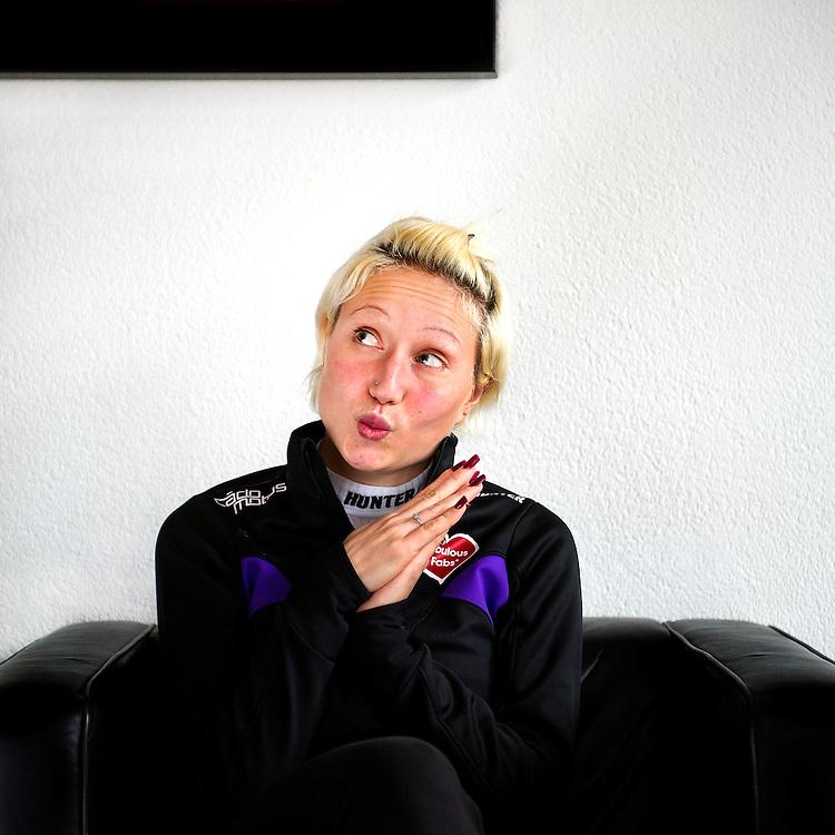 Nederland, Genemuiden, 10-12-2012.<br /> Schaatsen, Skeeleren,Vrouwen.<br /> Francesca Lollobrigida (7 februari 1991), Italiaanse langebaan-, skeeler- en marathonschaatsster.<br /> Foto : Klaas Jan van der Weij