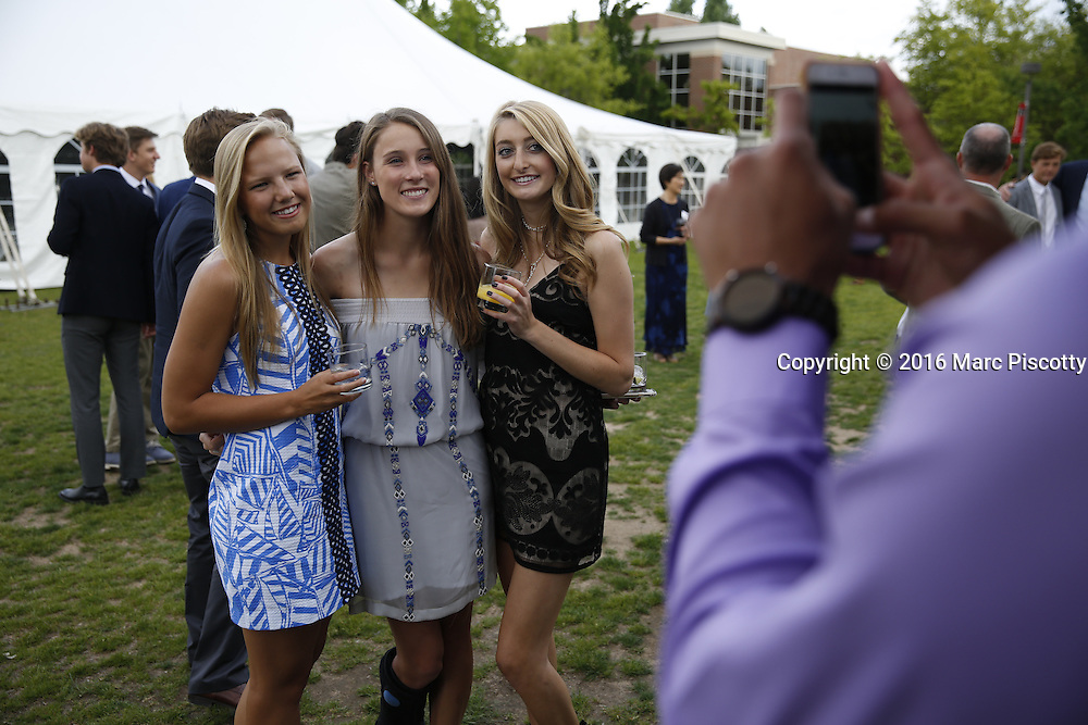 SHOT 6/1/16 6:00:34 PM - Colorado Academy Senior Class portrait in front of the Wellborn House and Class of 2016 Commencement Dinner at the Denver, Co. private school. (Photo by Marc Piscotty / © 2016)