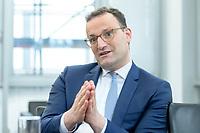 05 MAY 2021, BERLIN/GERMANY:<br /> Jens Spahn, CDU, Bundesgesundheitsminister, wahrend einem Interview, in seinem Buero, Bundesministerium fur Gesundheit<br /> IMAGE: 202105005-01-035