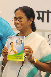 March 28, 2019 - Kolkata, West Bengal, India - West Bengal Chief Minister and Trinamool Congress or TMC supremo Mamata Banerjee release Trinamool Congress manifesto ahead of Lok Sobha election 2019. (Credit Image: © Saikat Paul/Pacific Press via ZUMA Wire)