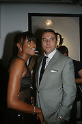 DAVID WALLIAMS AND NAOMI CAMPBELL, Helmut Newton XL. Hamiltons. Carlos Place. London. 25 September 2007. -DO NOT ARCHIVE-© Copyright Photograph by Dafydd Jones. 248 Clapham Rd. London SW9 0PZ. Tel 0207 820 0771. www.dafjones.com.