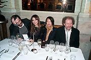 Lara Bohinc; Rosey Chan;  Mike Figgis, Criterion Restaurant  celebrates its 135th anniversary. Piccadilly Circus. London. 2 February 2010