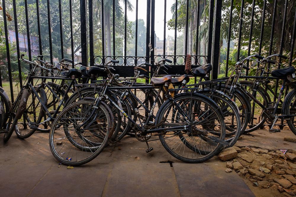 NEW DELHI, INDIA - CIRCA OCTOBER 2016: Bicycles in the streets of Old Delhi.