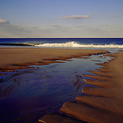 Patterns in the sand, outgoing tide, Plum Island, Newbury, Massachusetts