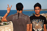 Young men in Gibara, Holguin, Cuba.