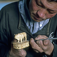 MONGOLIA, Darhad Valley. When Uuganjii was 12,  he lost his fingers & legs to frostbite trying to pursue his migratory family that left him at boarding school.