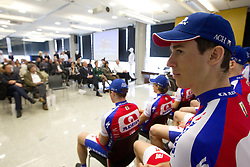 Jure Zagar at press conference of Pro Cycling Team Adria Mobil Novo mesto before new season, on March 8, 2011 at ACH, Ljubljana, Slovenia. (Photo By Vid Ponikvar / Sportida.com)