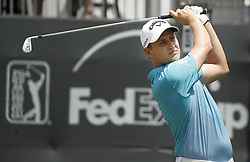 May 25, 2018 - Fort Worth, TX, USA - Emiliano Grillo tees off on hole number 13 during the second day of the Invitational at Colonial Friday, May 25, 2018 in Fort Worth, Texas. (Credit Image: © Brad Loper/TNS via ZUMA Wire)