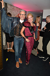 PATRICK COX and PRINCESS ALEXANDRA MASSIMO di ROCCASECCA at a party to celebrate 10 years of footware designer Nicholas Kirkwood held at 9 Adam Street, London on 19th September 2015.