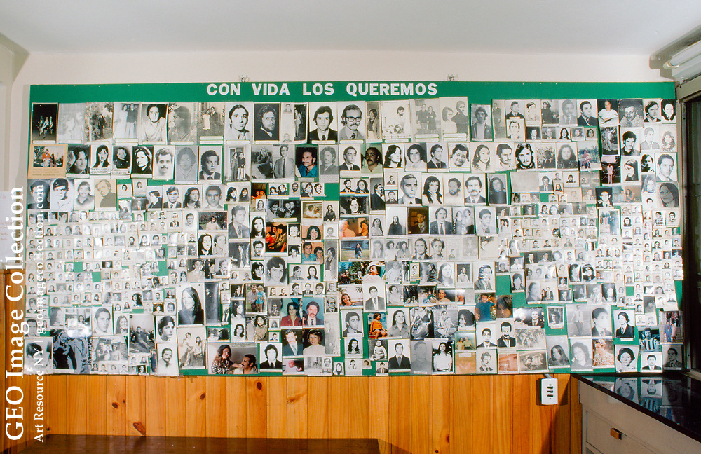 Photos of disappeared persons.