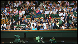 July 7, 2018 - London, London, United Kingdom - Wimbledon Tennis Championships-Day Six. The Royal box on Centre court on Day Six of the Wimbledon Tennis Championships, at 3pm as the England v sweden game starts in the world cup  (Credit Image: © Andrew Parsons/i-Images via ZUMA Press)