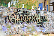Anaheim Garden Walk Monument with Water Fountain