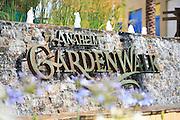 Anaheim Garden Walk Monument with Water Fountain