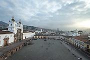 Plaza San Francisco Church (Iglesia de San Francisco), Quito, Ecuador, South America