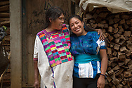 CLIENT: POPULATION ACTION INTERNATIONAL<br /> <br /> Maruch Hernández, 28, a Tzeltal youth health promoter, is hugged by her mother Sebastiana Garcia in their home town, San Juan Cancun, Chiapas, Mexico.  Maruch moved to the city of San Cristobal de Las Casas when she was 14 to pursue her education because her father was pressuring her to get married and start a family. Her mother still gets emotional when she leaves home.
