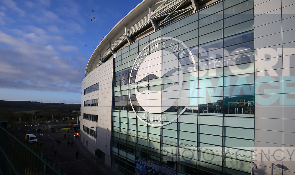 A general view of the outside of the stadium ahead the Premier League match at the American Express Community Stadium, Brighton and Hove. Picture date: 8th February 2020. Picture credit should read: Paul Terry/Sportimage