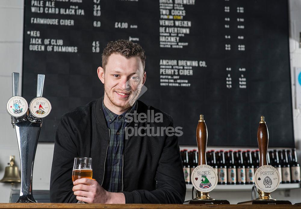 William Harris - director of Wild Card Brewery.<br /> Picture by Daniel Hambury/Stella Pictures Ltd +44 7813 022858<br /> 16/02/2016