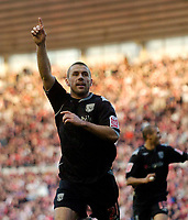 Photo: Jed Wee/Sportsbeat Images.<br /> Middlesbrough v West Bromwich Albion. The FA Cup. 17/02/2007.<br /> <br /> West Brom's Kevin Phillips celebrates after scoring on his return to the North East.
