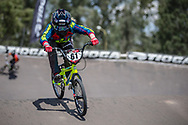 #61 (VEENSTRA Manon) NED during practice at round 1 of the 2018 UCI BMX Supercross World Cup in Santiago del Estero, Argentina.