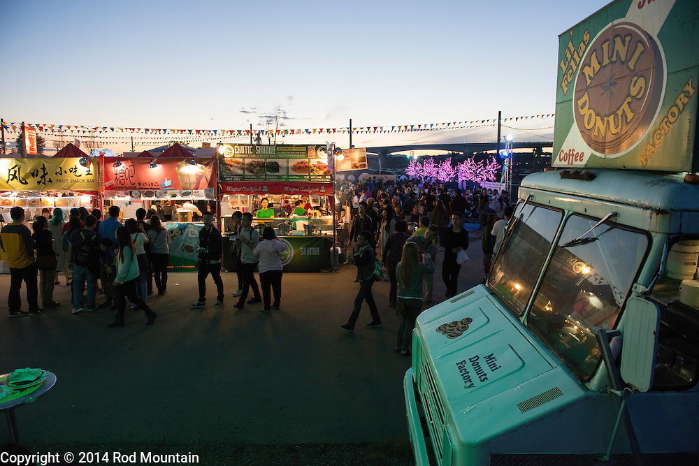 The scene as captured at the Richmond Night Market. © Rod Mountain