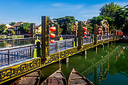 Sept. 2020, Hoi An: A beautiful sunny day next to the bridge close to Old Town, a UNESCO city of Hoi An. RAW to Jpg.