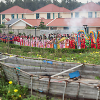 The Mazu procession wends its way down the length of Meizhou Island. <br /> <br /> Chinese religion acts not only as a means to commune with the divine, but also as an entire religious ecology designed to create stability and harmony within society. This ecology is deeply rooted in beliefs and rituals practiced not only by folk religion but also by Chinese Buddhism, Taoism and Confucianism.
