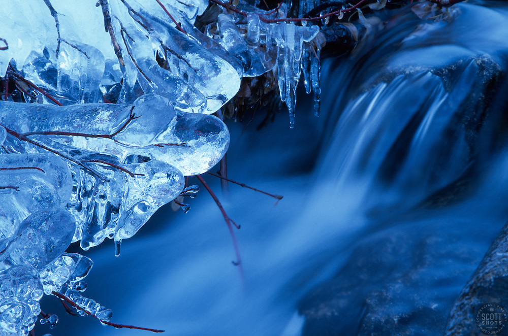 """""""Icicles 1""""- Photographed near China Wall above Donner Lake, CA.<br /> Photographed: November 2002"""