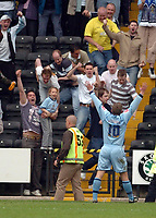 Photo: Leigh Quinnell.<br /> Notts County v Bury. Coca Cola League 2. 06/05/2006.<br /> Tom Youngs celebrates his goal for Bury.
