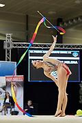 Milena Baldassarri from Fabriano team during the Italian Rhythmic Gymnastics Championship in Padova, 25 November 2017.