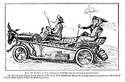 "The ""H G Wells"" Car, specially designed not to provoke Labour Unrest. [Mr Wells, in his labour unrest articles in The Daily Mail, hinted that the parade of costly motor-cars constitutes a Spectacle of Pleasure which tends to irritate the labouring classes.]"