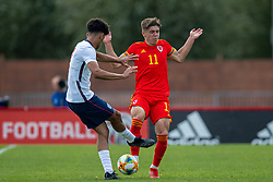 NEWPORT, WALES - Friday, September 3, 2021: Wales' Cian Ashford during an International Friendly Challenge match between Wales Under-18's and England Under-18's at Spytty Park. (Pic by David Rawcliffe/Propaganda)