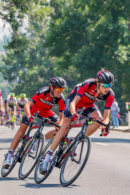 Team BMC riders at USA Pro Challenge bike race. Golden, Colorado
