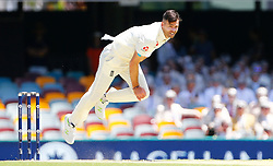 England's James Anderson bowls during day two of the Ashes Test match at The Gabba, Brisbane.