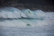 Sydney, Australia. Sunday 24th May 2020. Bondi Beach in Sydney's Eastern suburbs experiences very rough surf conditions today with  massive waves.