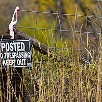 A sign warns the public to keep off private property in Montana.