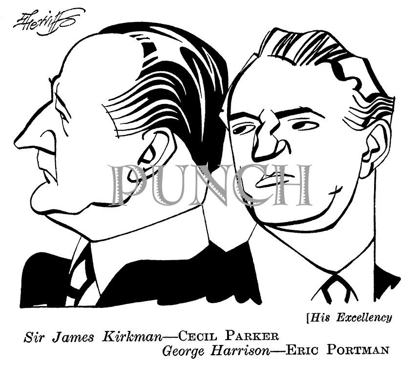 His Excellency : Cecil Parker and Eric Portman..