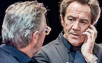 "Production stills of Robert Lindsay filming BBC ""Sixty Six"" documentary at his old College (Clarendon) in Nottingham where he studied acting 50 years ago in 1966.<br />