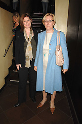 Left to right, SARAH BROWN wife of Gordon Brown and SUE NYE Gordon Brown's political secretary at a party to celebrate the publication of Piers Morgan's book 'Don't You Know Who I Am?' held at Paper, 68 Regent Street, London W1 on 18th April 2007.<br /><br />NON EXCLUSIVE - WORLD RIGHTS