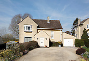 Rustic limestone fronted detached family house in Weston Park, Bath next to the Cotswold Way