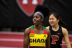 Harvard University<br /> Crimson Elite Indoor track & field meet<br /> Ghana, BU, 60m qualifying
