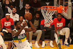 February 27, 2019 - Los Angeles, CA, U.S. - LOS ANGELES, CA - FEBRUARY 27: New Orleans Pelicans Center Julius Randle (30) goes up for a shot during the first half of the New Orleans Pelicans versus Los Angeles Lakers game on February 27, 2019, at Staples Center in Los Angeles, CA. (Photo by Icon Sportswire) (Credit Image: © Icon Sportswire/Icon SMI via ZUMA Press)