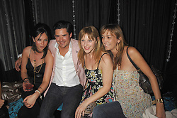 Left to right, RACHAEL LETHBRIDGE, EDWARD TAYLOR, GLORIA FRAMPTON  and GINA MOORE  at a party to launch the new upstairs area of Mamilanji, 107 Kings Road, London SW3 on 19th April 2007.<br /> <br /> NON EXCLUSIVE - WORLD RIGHTS