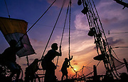 Chinese Fishing Nets in Cochin (Kochi), Kerala, India.<br /> <br />  © Jeremy Horner  23 Mar 1996