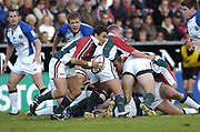 Leicester, England UK., 9th October 2004,  Zurich Premiership Rugby, Leicester Tigers vs Bath Rugby, Welford Road,<br /> [Mandatory Credit: Peter Spurrier/Intersport Images],<br /> <br /> <br /> <br /> <br /> <br /> Leicester, England UK., 9th October 2004,  Zurich Premiership Rugby, Leicester Tigers vs Bath Rugby, Welford Road,<br /> [Mandatory Credit: Peter Spurrier/Intersport Images],<br /> <br /> Tigers Harry Ellis, running round the back of the ruck.