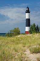 Big Sable Point Lighthouse on the eastersn shore of Lake Michigan. Ludington State Park Michigan
