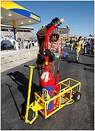 HAMPTON, GA:, Gas man Greg Martin gets fuel for the M&M Car at the Pep Boys Auto 500 at Atlanta Motor Speedway on Sunday.10/26/08.© 2008 Johnny Crawford