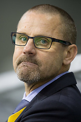 08.10.2013, Hala Tivoli, Ljubljana, SLO, EBEL, HDD Olimpija Ljubljana vs UPC Vienna Capitals, 18.Runde, im Bild Tommy Samuelsson, head coach of UPC Vienna Capitals // during the Erste Bank Icehockey League 18th Game Day match between HDD Olimpija Ljubljana and UPC Vienna Capitals at the Hala Tivoli, Ljubljana, Slovenia on 2013/10/08. EXPA Pictures © 2013, PhotoCredit: EXPA/ Sportida/ Matic Klansek Velej<br /> <br /> ***** ATTENTION - OUT OF SLO *****